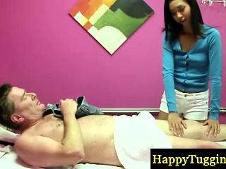 Petite asian masseuse gets conception
