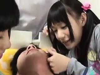 Superb Japanese Sluts Dominating A Guy