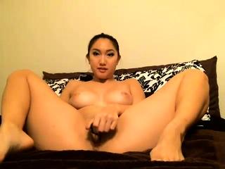 Hot Asian girl solo shower