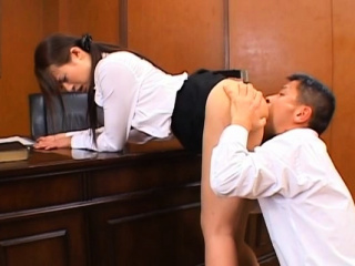 Oriental teacher gets the brush lanate cunt fucked ans creamed