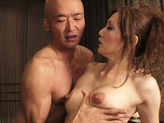 Erotic Asian sex residuum in a wet facial