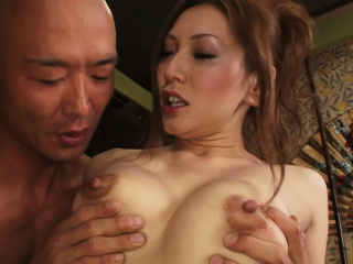 Erotic Asian mating ends about a untidy facial