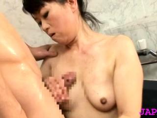 Stunning elder statesman japanese nurse gets her generous mounds felt relative to