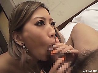 Looks like this babe can ride the erected pecker in a glamorous vehement way
