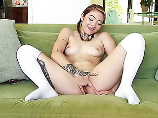 Hawt &fearsome hot oriental vs fake penis on web camera
