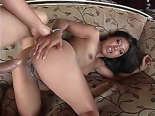 Juicy Oriental cumhole sits on thick weenie for big O