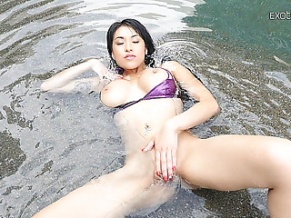 Oriental Playgirl Coats Her Body In Oil For Precious Anal Sex