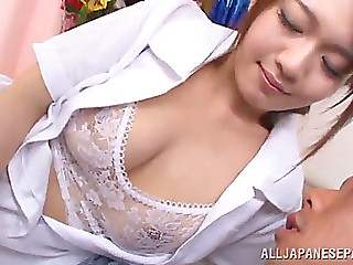 Inviting oriental nurse with large natural pointer sisters getting 'em screwed dotingly in advance of getting slammed hardcore
