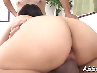 Oriental blowbang with hawt anal