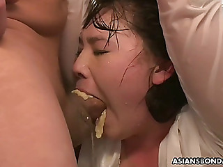 Sub wench aki receives humiliatingly toyed whilst hanging upside down